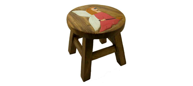Wooden Stool Angel